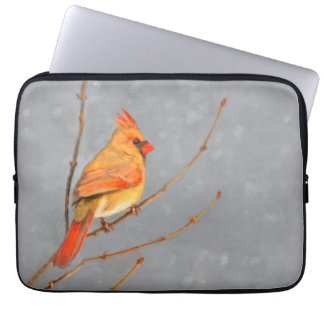 Cardinal on Branch Laptop Sleeve