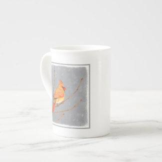 Cardinal on Branch Tea Cup