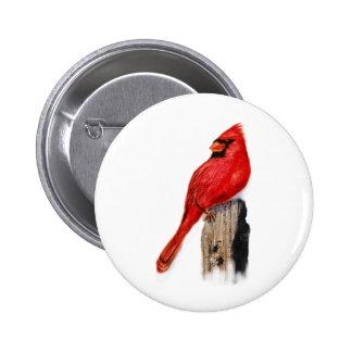 Cardinal on Post Pinback Button