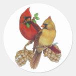 Cardinal Pair Stickers