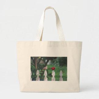 Cardinal photo jumbo tote bag