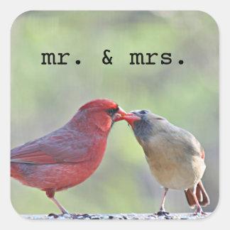 Cardinal photo square sticker