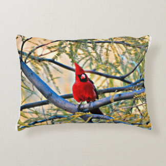 "Cardinal Pillow ""Visitor From Heaven"""