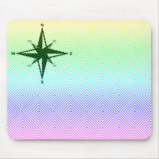 cardinal points, spectral romb mousepad