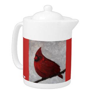 Cardinal Porcelain Tea Pot