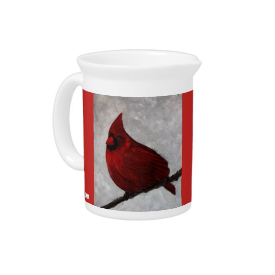 Cardinal Porcelin Picther Pitcher