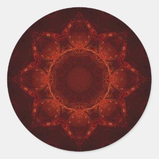 Cardinal Red 1 Round Stickers