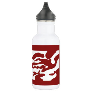 Cardinal Red White Camo California Water Bottle