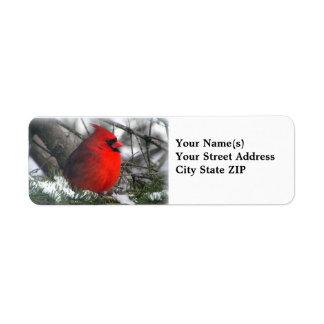Cardinal Return Address Label