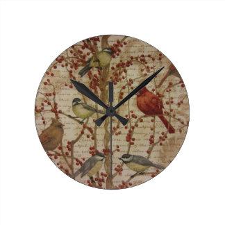 Cardinal Round Clock