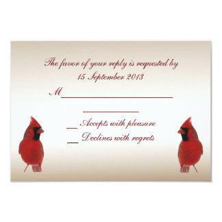 Cardinal RSVP Wedding 9 Cm X 13 Cm Invitation Card
