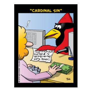 """""""Cardinal Sin"""" Postcard"""