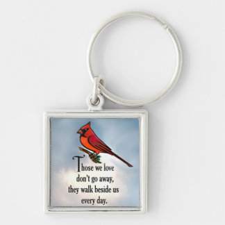 "Cardinal ""So Loved"" Poem Key Ring"