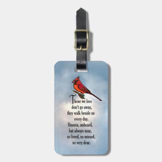"Cardinal ""So Loved"" Poem Luggage Tag"