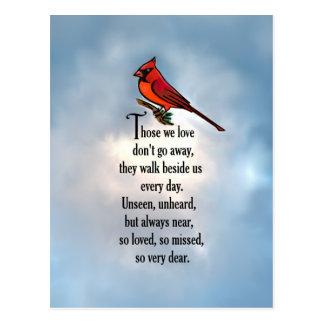 "Cardinal ""So Loved"" Poem Postcard"