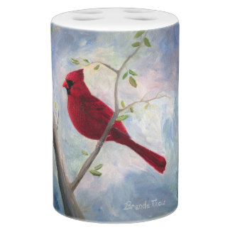 Cardinal Soap Dispenser And Toothbrush Holder