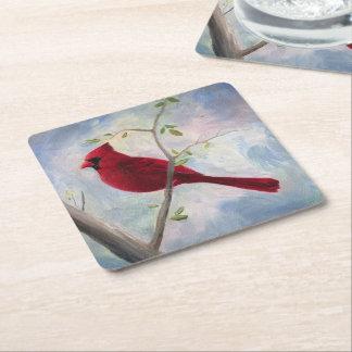 Cardinal Square Paper Coaster