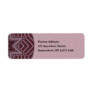 Cardinal Star Mandala - Return Address Avery Label Return Address Label