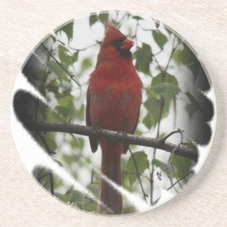 Cardinal Swerl Beverage Coaster