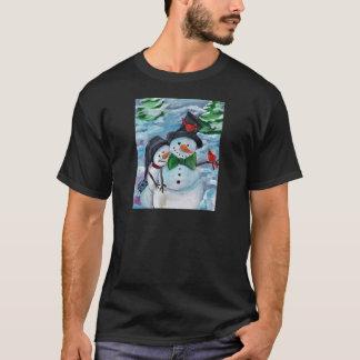 Cardinal visiting Snowmen T-Shirt
