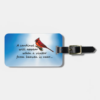 Cardinal, Visitor from Heaven Luggage Tag