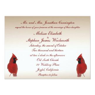 Cardinal Wedding 14 Cm X 19 Cm Invitation Card