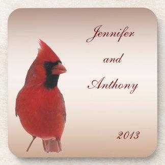 Cardinal Wedding Drink Coasters