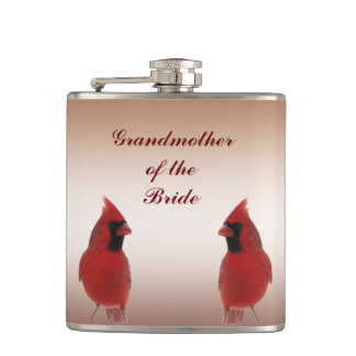 Cardinal Wedding Grandmother of the Bride Flasks