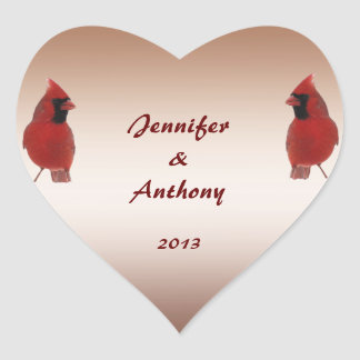Cardinal Wedding Stickers