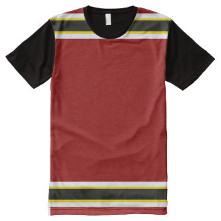 Cardinal with White Gold and Black Trim All-Over Print T-Shirt