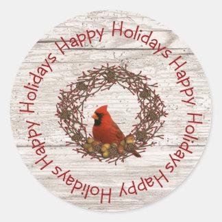Cardinal Wreath Sticker