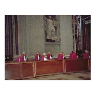 Cardinals accompanying Pope John Paul II Postcard