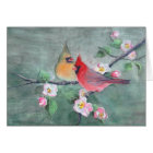 CARDINALS & APPLE BLOSSOMS by SHARON SHARPE Card