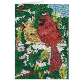 Cardinals for Marina Card