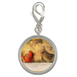 Cardinals in Autumn Charm Bracelet