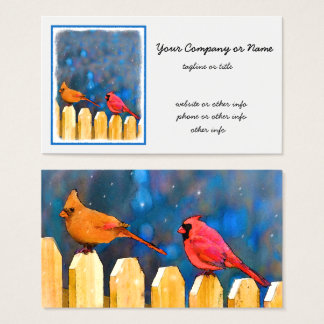 Cardinals on the Fence Business Card