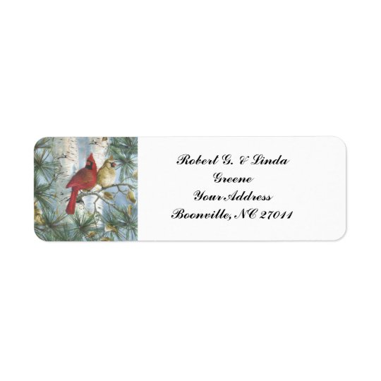 CARDINALS--RETURN ADDRESS LABELS