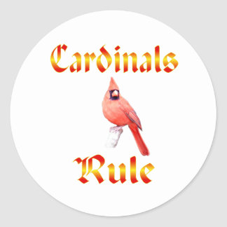 Cardinals Rule Classic Round Sticker