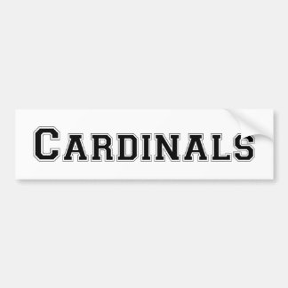 Cardinals square logo in black bumper stickers