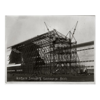 Cardington, Construction for Shed 2 for airship Postcard