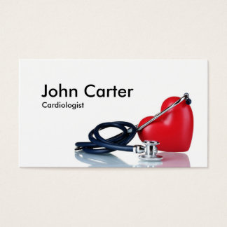 Cardiologist Family Doctor Clinic First Aid Business Card