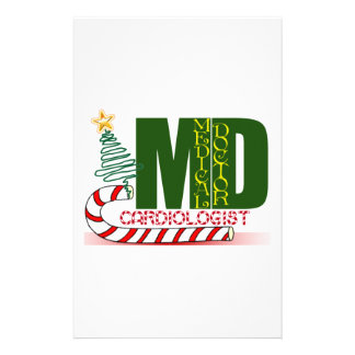 CARDIOLOGIST HEART DOCTOR CHRISTMAS MERRY CUSTOM STATIONERY