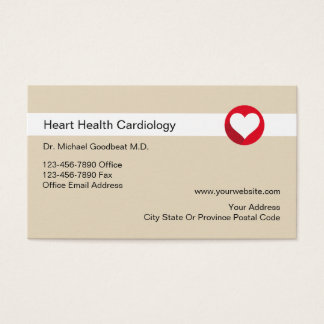 Cardiologist Medical Business Cards