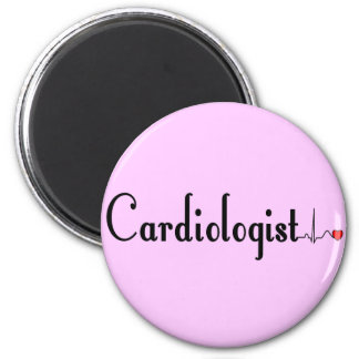 Cardiologist QRS Complex Gifts 6 Cm Round Magnet