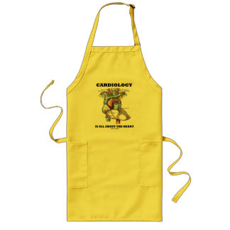 Cardiology Is All About The Heart (Anatomical) Long Apron