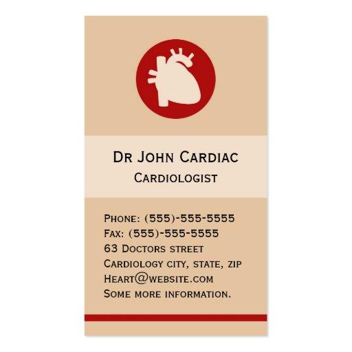 Cardiology or cardiac surgeon business card