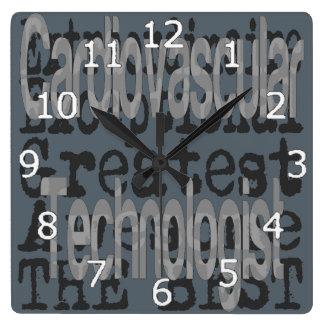 Cardiovascular Technologist Extraordinaire Square Wall Clock