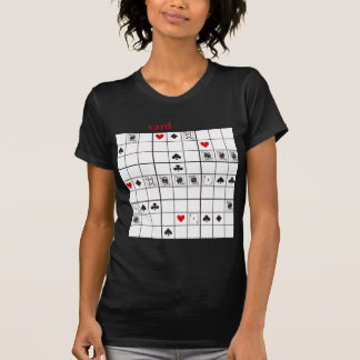 cardoku clubs royal flush tee shirt