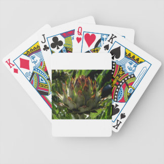 Cardoon flower bud bicycle playing cards