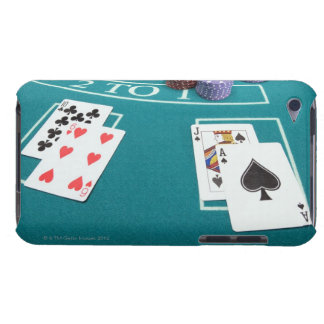 Cards and chips on betting table iPod touch cover